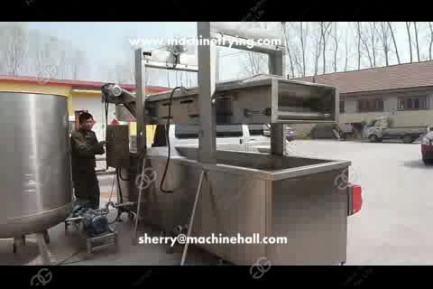 Automatic Continuous peanut frying machine