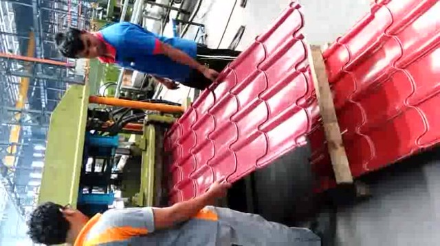 Production Process of roofing sheet