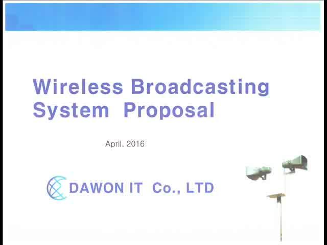 Wireless Speaker Broadcasting system Proposal