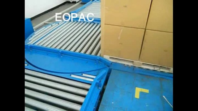 Pallet handling system/roller conveyors
