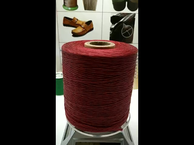 High quality  braided waxed thread for shoes thumbnail image