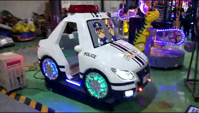 Tecway-Kiddie Ride- Toddler Police Car