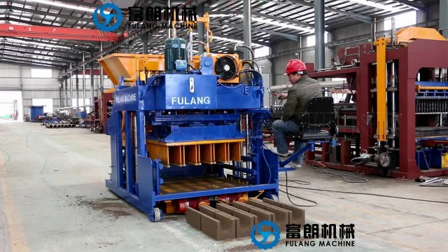 mobile concrete hollow block brick machine