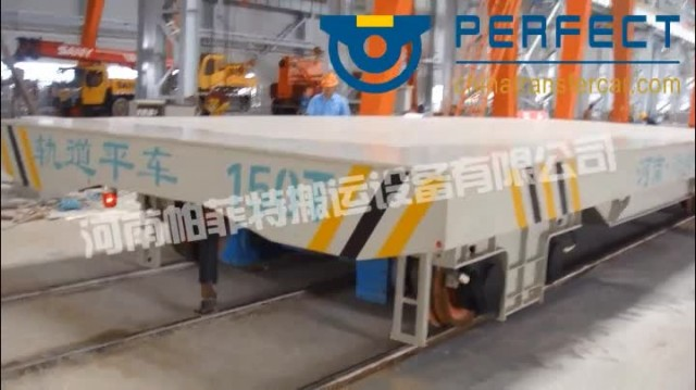 150 Ton rail powered transport shuttle materials