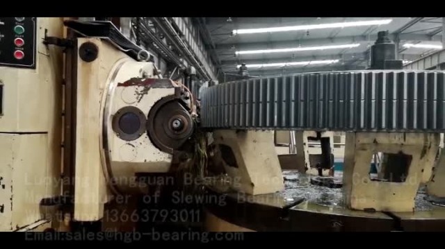 Video of Slewing Bearing Hobbing Processing thumbnail image