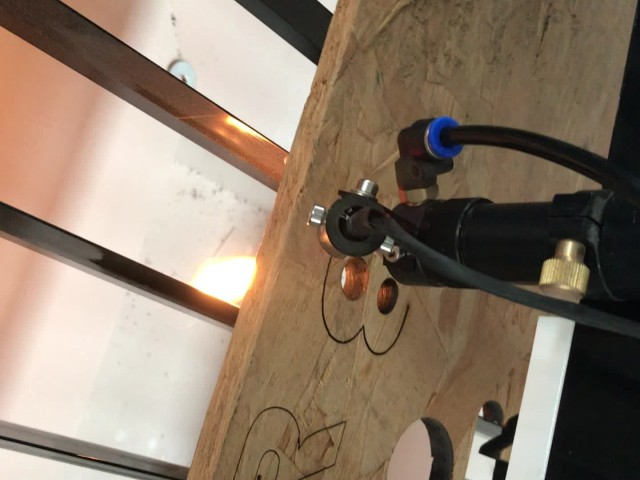 laser cutting solid wood with 150W laser tube