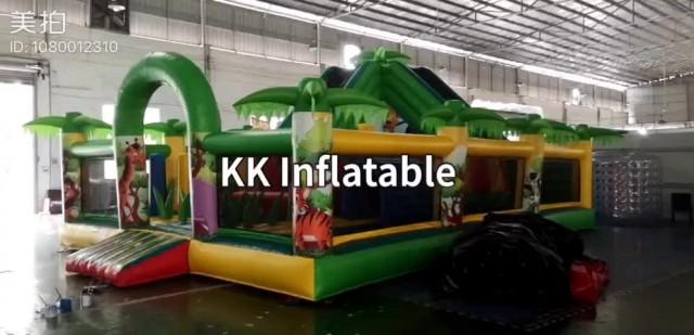Slide Park Multiplay Jungle Inflatable Fun City thumbnail image