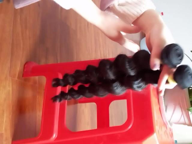 100% human virgin hair bundles loose wave thumbnail image