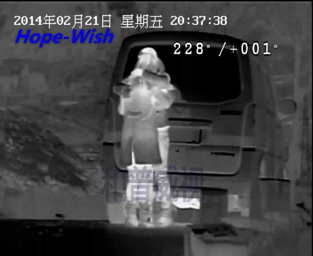 monitor 2 girls by thermal camera