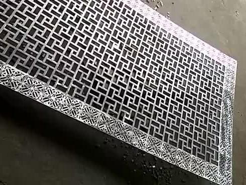 ahl-corten corten steel laser cutting screen