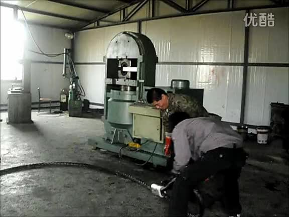 Hydraulic wire rope sling press machine