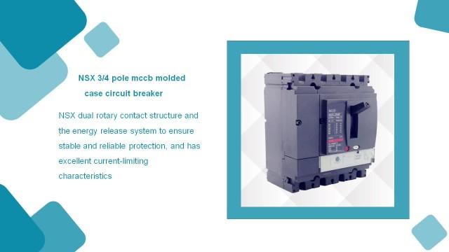 NSX 3/4 pole mccb molded case circuit breaker