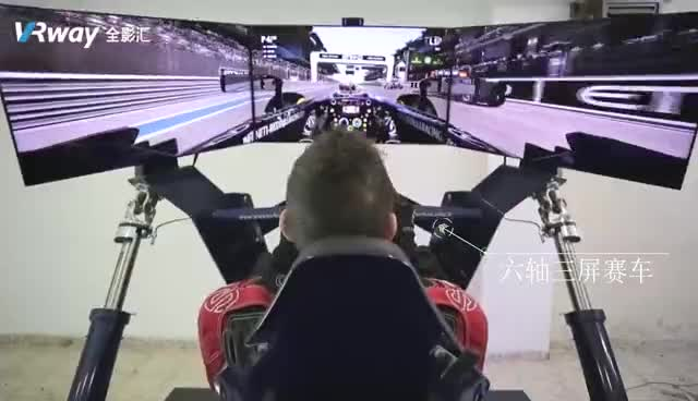 Three screen 6DOF Racing Car