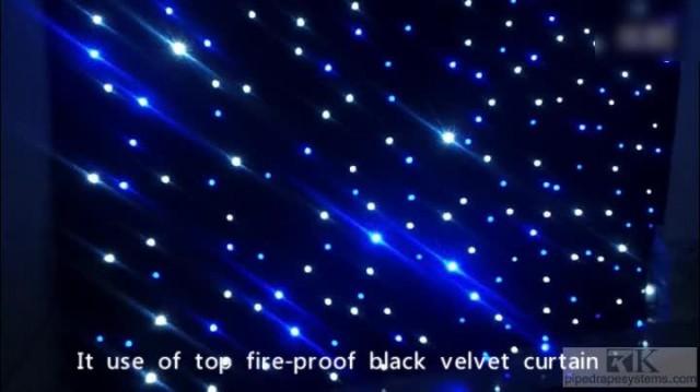 LED star curtain light drapery for wedding idea thumbnail image
