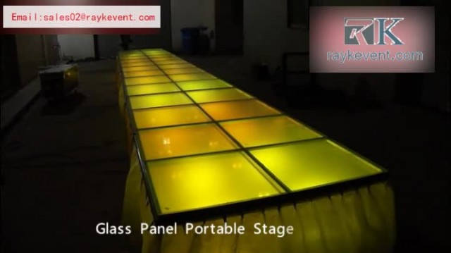 Aluminum glass portable stage system for sale thumbnail image