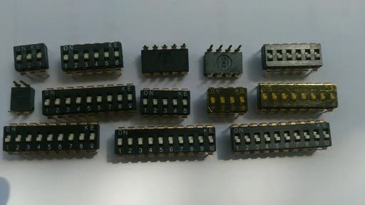 IC type dip switch 2.54mm pitch thru-hole type