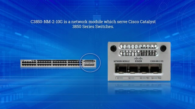 C3850-NM-2-10G Overview