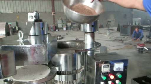 Hydraulic oil press for cocoa bean thumbnail image