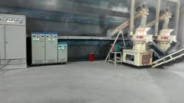 Biomass pellet fuel production plant
