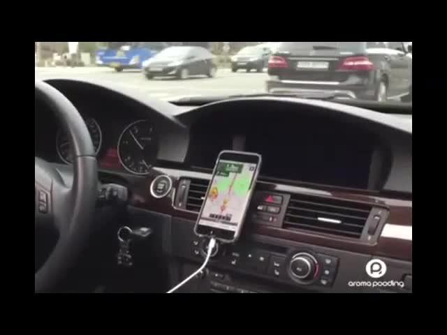 Car Air Freshener + Smartphone Holder