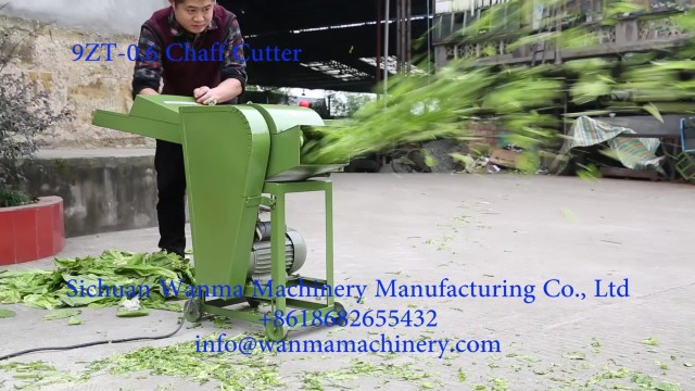 WANMA 9ZT-0.6 Stalk Grass Hay Chaff Cutter Machine thumbnail image