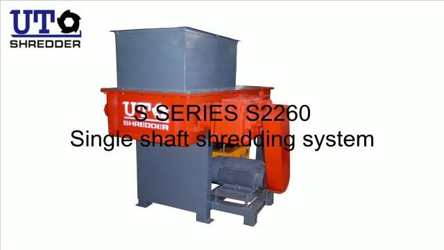single shaft shredder shred plasticlump block thumbnail image