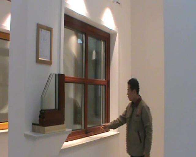 elegant solid wood window