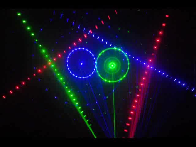 6 Aperture RGB LED Animation Laser Projector thumbnail image