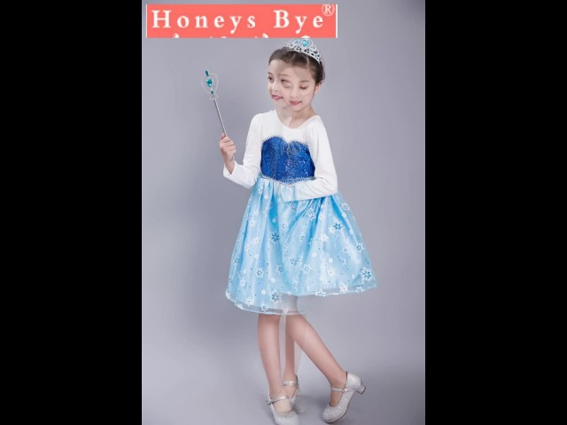 Frozen Elsa Princess Dress for Children Dress thumbnail image