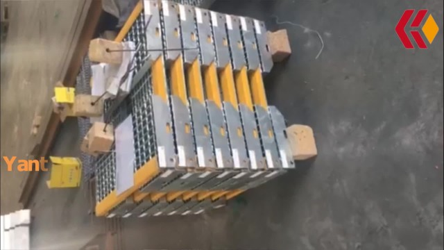 Stair treads with signal yellow anti slip nosing thumbnail image