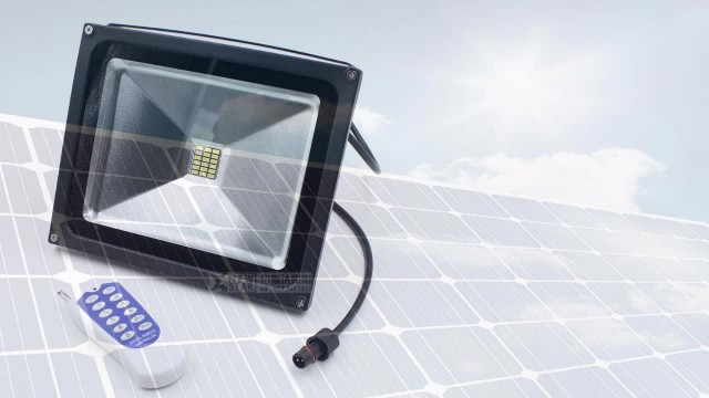 10w dc12v RF remote solar led floodlights