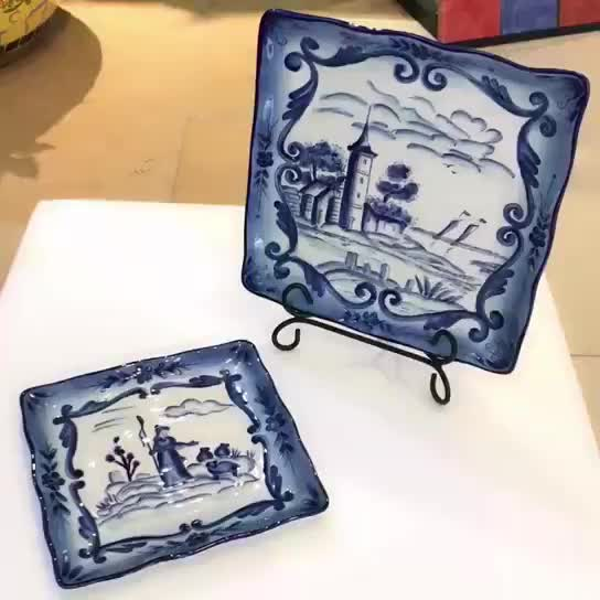 Hand Painted Ceramic Dinner Dishes (63854) thumbnail image