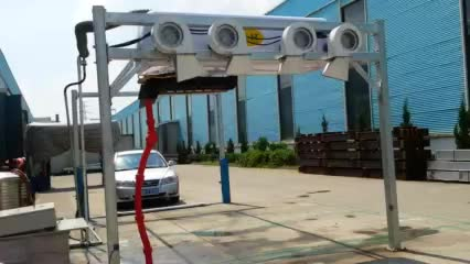 Touchless car wash machine with single arm thumbnail image