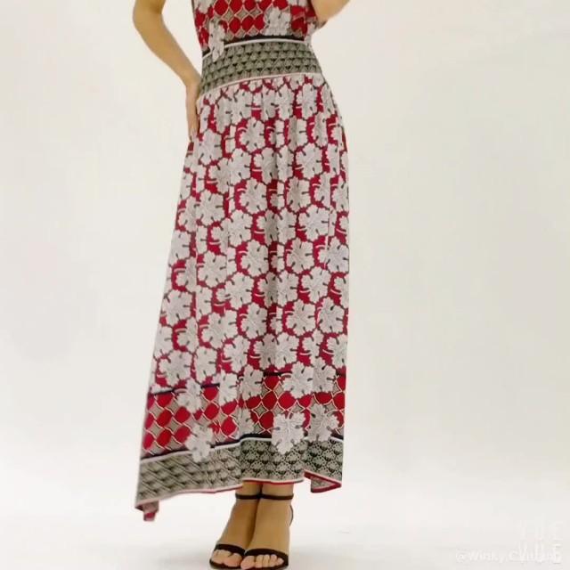 Floral Print Sexy Sleeveless Women Long Maxi Dress