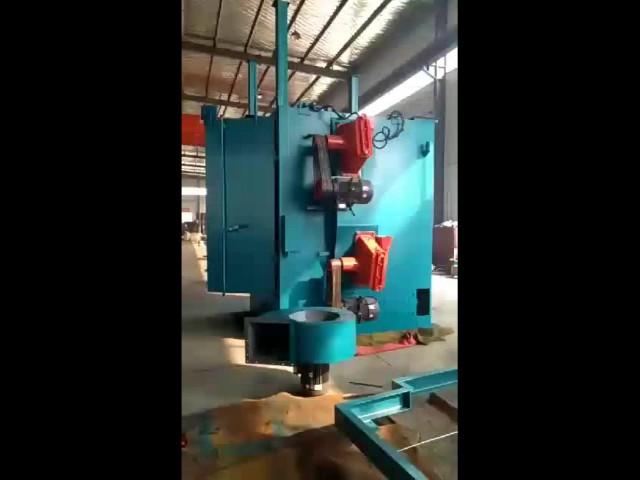 hanging overhead chain type shot blasting machine