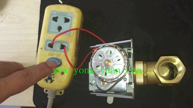motorized valve test