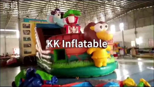 Viking Pirate Ship inflatable dry slide