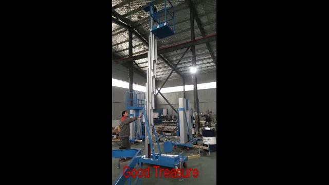 Single mast aluminum  vertical man lift