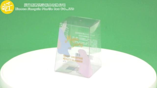 Transparent makeup sponge retail packaging thumbnail image
