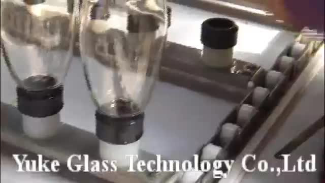 Automatic glass bottle etching/frosting machines