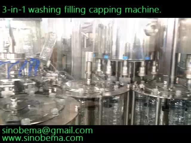 Bottle washing filling capping machine, 200-2000ml thumbnail image