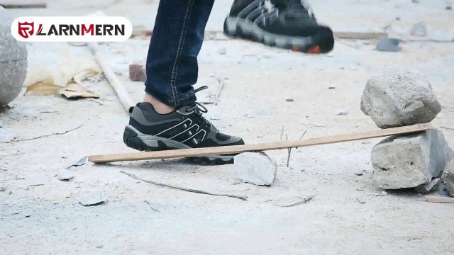 safety steel toe cap shoes with steel plate