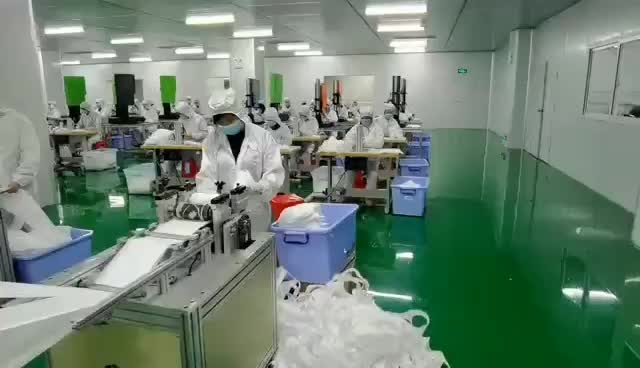 KN95 face mask producing video