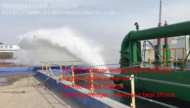 dredger testing in our factory pool