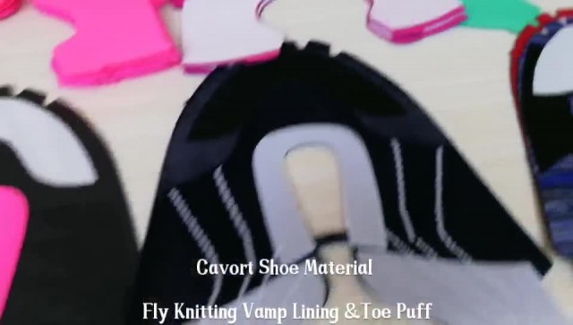 Fly Knitting Vamp Lining Material And Toe Puff
