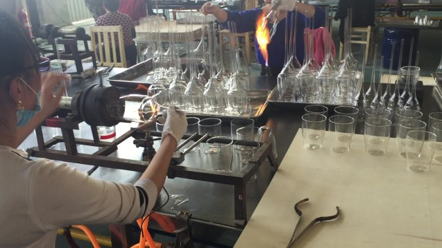 Glass cup production factory