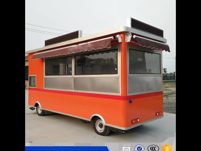 Electric mobile fast food truck food vending carts
