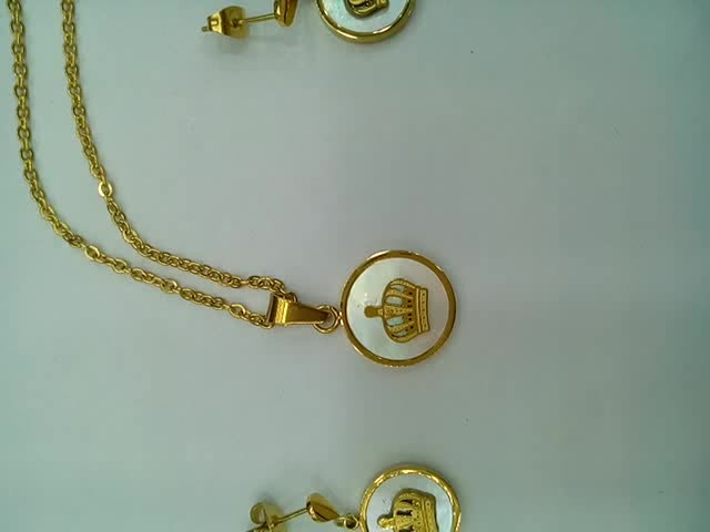 Trendy fashion jewelry,Gold plated necklace set thumbnail image