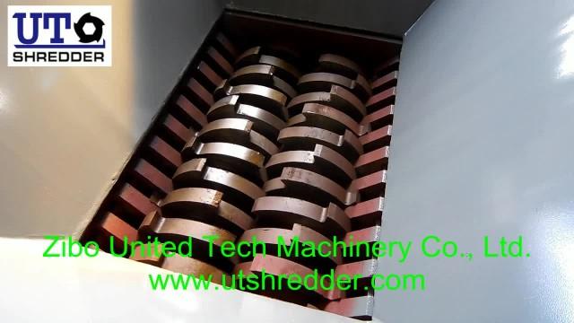 two cross-cut shaft shredder shredding waste tire thumbnail image