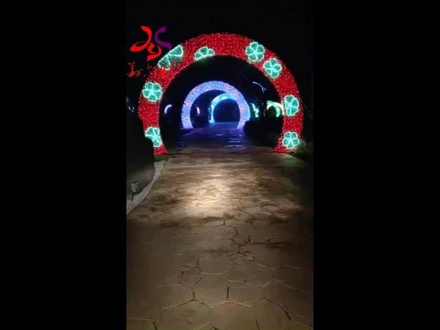 across arch door motif lights for Christmas thumbnail image